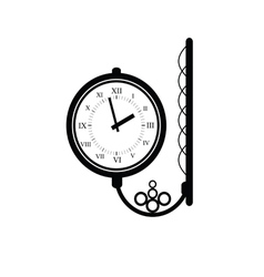 clock antique black vector image