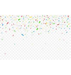 Colorful confetti celebration carnival falling vector