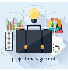 Concept of project mamagement vector