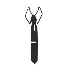 dad tie icon simple style vector image