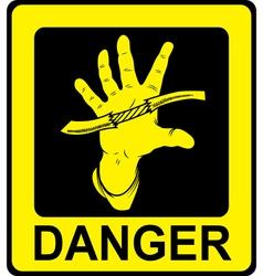 Danger sign high voltage vector