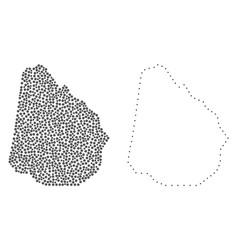 Dot contour map of uruguay vector