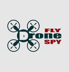 drone quadrocopter icon drone fly and spy text vector image