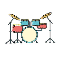 drums musical instrument to play music vector image