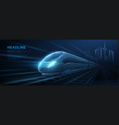 fast express passenger train on high speed vector image