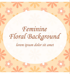 Feminine peach floral seamless pattern template vector