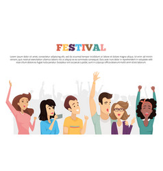 Festival poster text sample vector