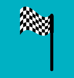 Finish flag isolated icon vector