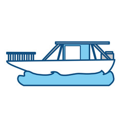 Fishing ship boat vector