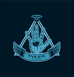 five eye alliance spy vector image