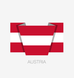 Flag of austria flat icon waving flag with vector