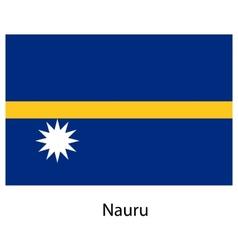 Flag of the country nauru vector image