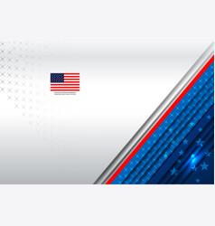 Flag usa background vector