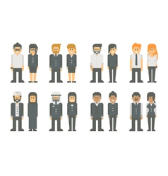 Flat design business worker set vector