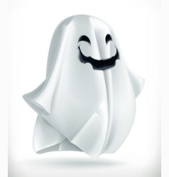 Ghost happy halloween 3d icon vector