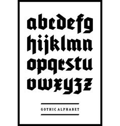 Gothic font alphabet type vector image