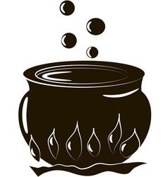 Halloween cauldron vector
