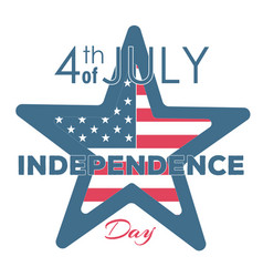 Happy independence day - fourth of july vector