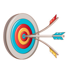 head shot target icon cartoon style vector image