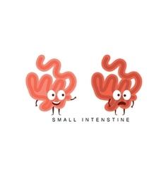 Healthy vs Unhealthy Small Intestine Infographic vector image