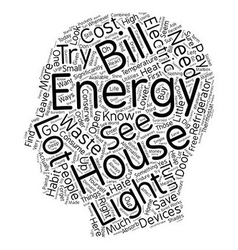 House energy ll 1 text background wordcloud vector