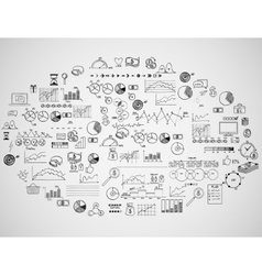 Infographics collection hand drawn doodle sketch vector