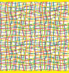 Intricate colored wires seamless pattern vector
