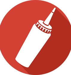 Ketchup Bottle Icon vector
