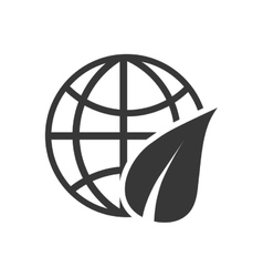 Leaf ecology nature save icon graphic vector