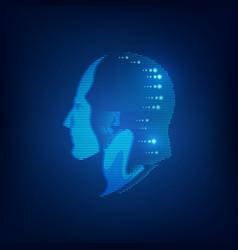 light head vector image