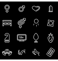 line sex icon set vector image