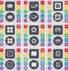 Message Laptop Socket Apps Gear Credit card Arrow vector image