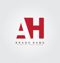 Minimal business logo for initial letter ah vector