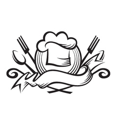 Monochrome chef hat design vector