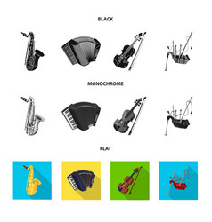 Music and tune sign set of vector