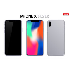 new model iphone x vector image vector image