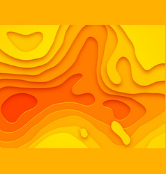 Papercut layer yellow color gradient background vector