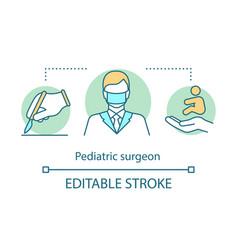 Pediatric surgeon concept icon vector