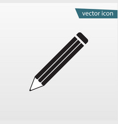 pencil icon flat symbol isolated on white vector image