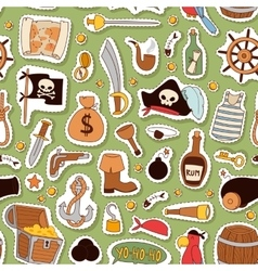 Pirate pattern background vector image
