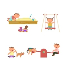 Playground infographic elements vector