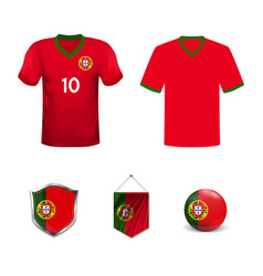 Portugal football national team in euro vector