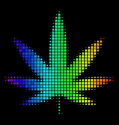 Rainbow dot cannabis icon vector