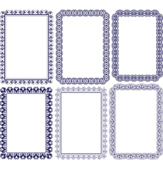rectangular frame with embellishments vector image