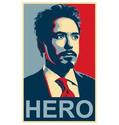 Robert downey jr iron man hero poster vector
