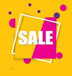 sale square banner black friday design template vector image