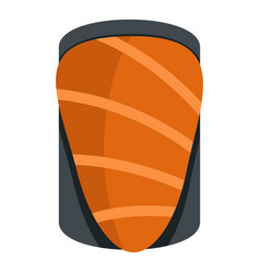 Salmon icon isolated vector