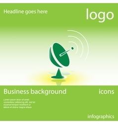 Satellite dish business background vector image