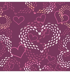 Seamless pink Valentines day background vector image