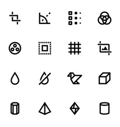 Set of design icons vector